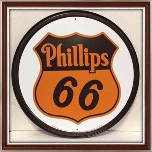 Phillips Route 66 Tin Wall Sign